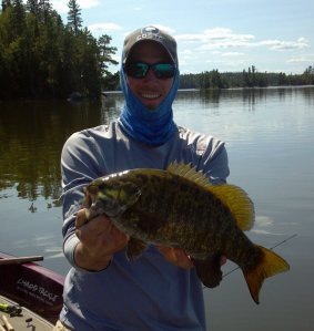Flat calm day on Eagle Lake, Ontario and I was staying cool and protecting my skin in my FISH-HARD gear!